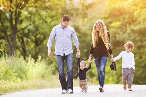 Family walking together - Integrity Counseling